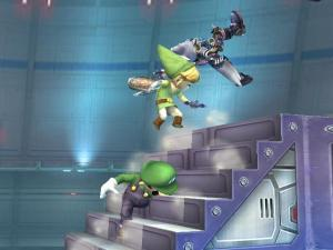 Cool! This stage has steps! Love it already!