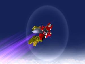 Showing off the old jet pack, Gotta Blast!i!i!i